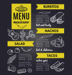 traditional mexican cuisine design template of vector image