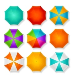 Umbrella Set vector image