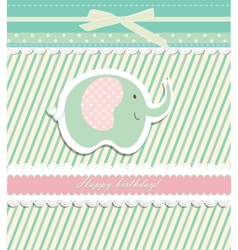 Vintage doodle elephant for frame wallpaper vector image vector image