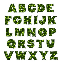 alphabet green vector image