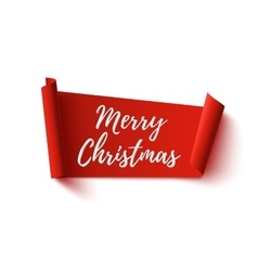 Merry Christmas red abstract banner vector image