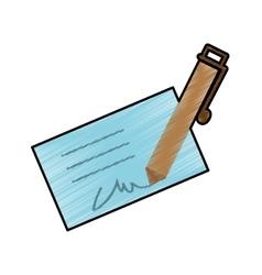 Signature and pen icon image vector