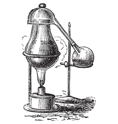Alembic distillation vintage engraving vector