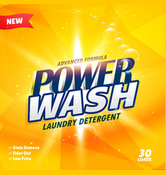 Creative yellow detergent advertisement concept vector