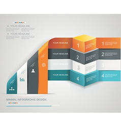 Modern options bannercan be used for workflow vector image