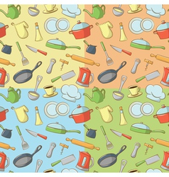 Kitchenware patterns vector