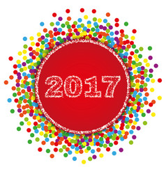 2017 happy new year background with confetti vector image