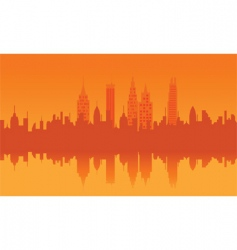 Orange cityscape vector