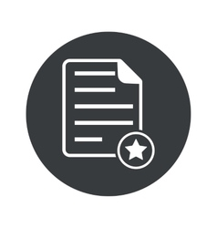 Monochrome round favorite document icon vector