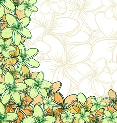 Background of transparent blend flowers design vector