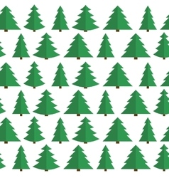 Christmas flat tree seamless pattern background vector