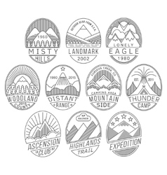 Mountain badges2 linear vector