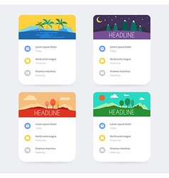 Set of templates with user interface design vector