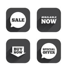 Sale icons special offer speech bubbles symbols vector