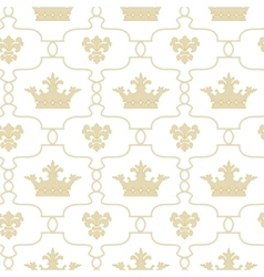 Seamless background with crowns and fleur de lis vector