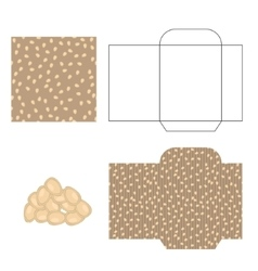 Pumpkin seeds packaging design kit recycled paper vector