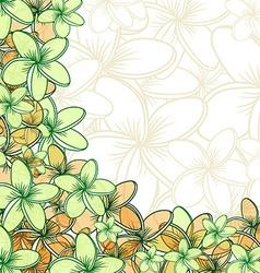 Background of transparent blend flowers design vector