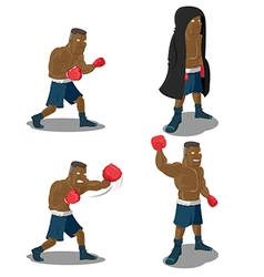 Boxer Strong Mighty Winner Sport vector image