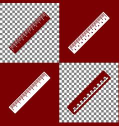 Centimeter ruler sign bordo and white vector