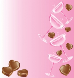 champagne and chocolates vector image