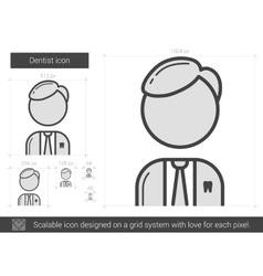 Dentist line icon vector