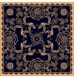 Design for square pocket shawl textile Paisley vector image vector image