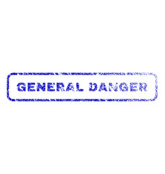 general danger rubber stamp vector image
