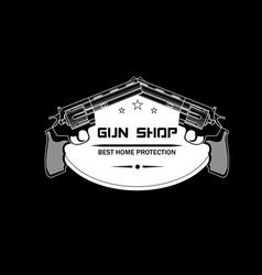 gun shop emblem logo vector image vector image