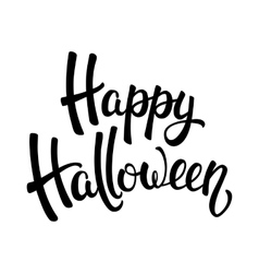 Happy Halloween brush lettering vector image