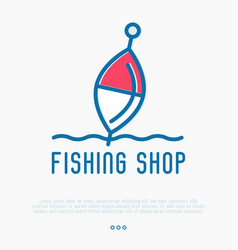 Logo for fishing shop with float vector