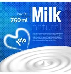 Milk design milk wave blue triangle halftone vector