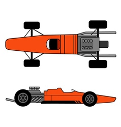 Old racing car vector image vector image