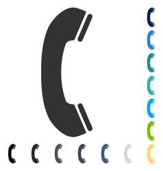 Phone receiver icon vector