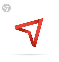 Red arrow pointing up vector