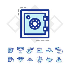 set of business and finance icons vector image vector image