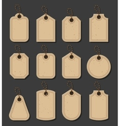Set of craft tags Paper labels in vitage style vector image