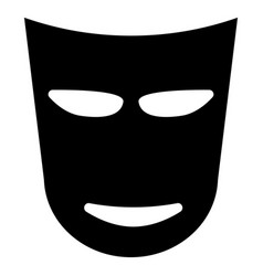 Theater mask the black color icon vector