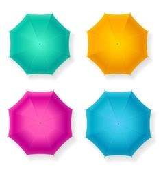 Umbrella Set vector image vector image
