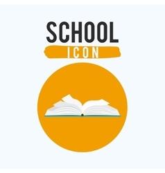 One open school book design vector