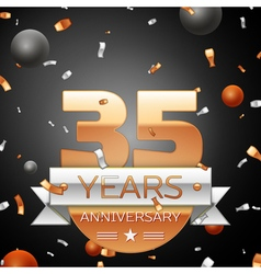 Thirty five years anniversary celebration vector
