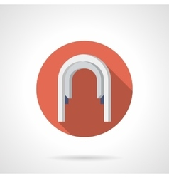 Arched passageway flat round icon vector