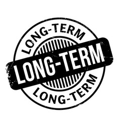 Long-term rubber stamp vector