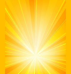 shiny sun rays radiator background vector image