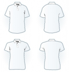 Polo shirt design template set vector