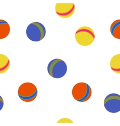Kids balls colorful pattern vector