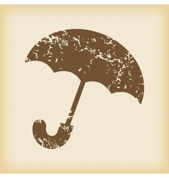 Grungy umbrella icon vector
