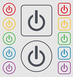 Power sign icon switch symbol symbols on the round vector