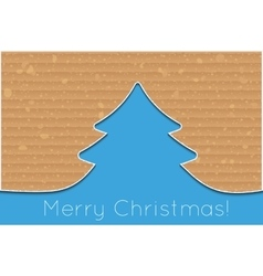 Cardboard christmas tree vector