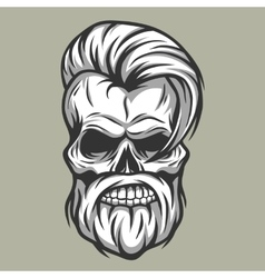 Charismatic skull hipster vintage style vector