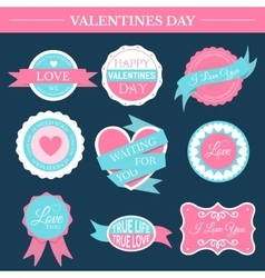 Love romantic set retro label template of emblem vector